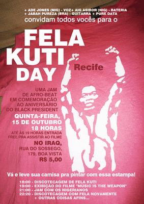 """Fela Day"" in Recife, Pernambuco"