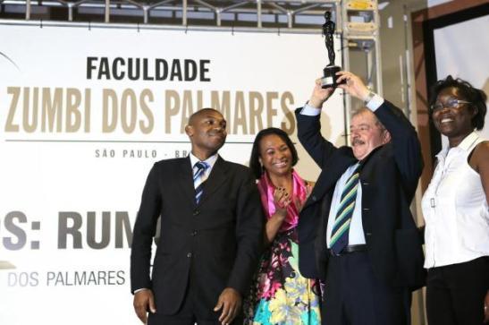 Former Brazilian president Lula da Silva was also presented with a Troféu Raça Negra award