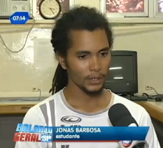 Student Jonas Barbosa was forced to get off a school bus at gunpoint