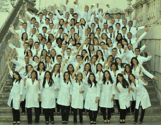 2010 graduating class of Medical students at the Federal University of Bahia