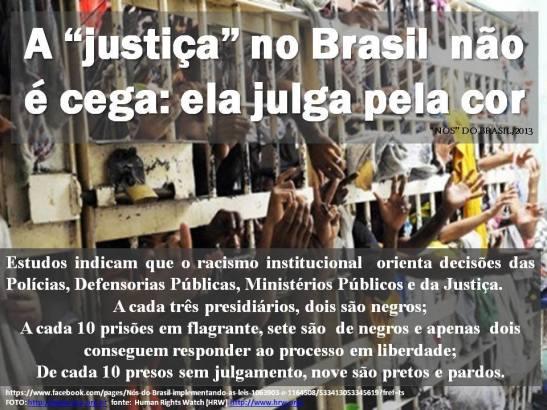 Prison - A 'justica' no Brasil nao e cega - ela julga pela cor - Nós' do Brasil - implementando as leis 10639-03 e 11645-08