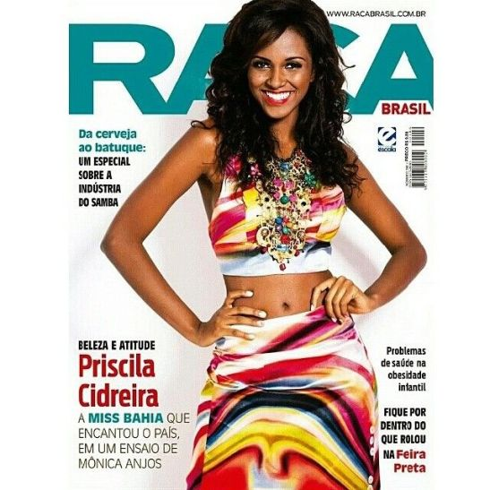 Current edition of Raça Brasil magazine features Priscila on the cover