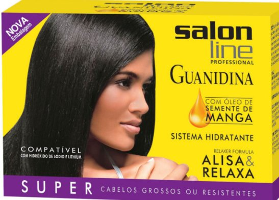 """Another Salon Line product with Guanidina (Guanidine) that is """"compatible with hydroxide based in sodium and lithium"""""""