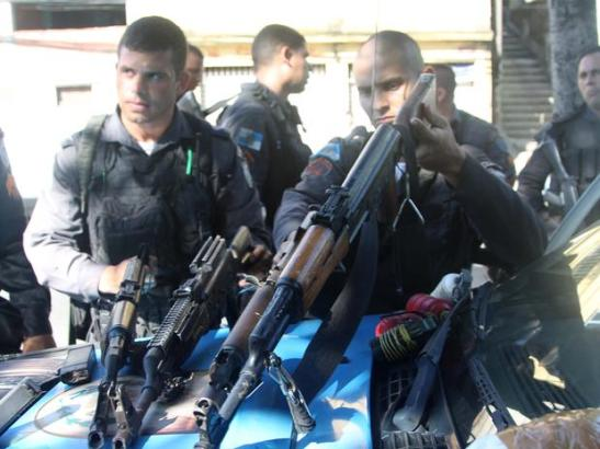 Weapons seized during MP operation