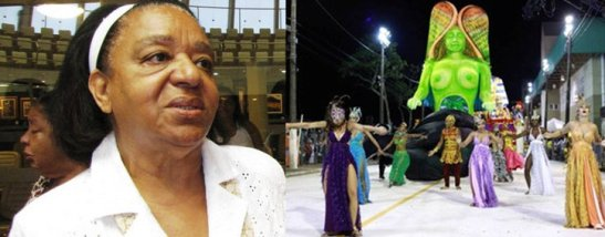 Uda Gonzaga, 76, was also honored. Icon of Carnaval, she was also the theme of a Samba School in the recent Carnaval