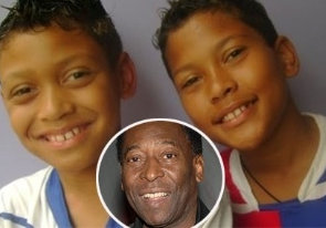 Sandra's children Gabriel and Octávio were recently awarded a pension to be provided by Pelé every month