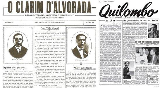 Clarim d'Alvorada and Quilombo newspapers