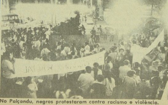 Movimento Negro in manifestation in downtown São Paulo circa late 70s/early 80s