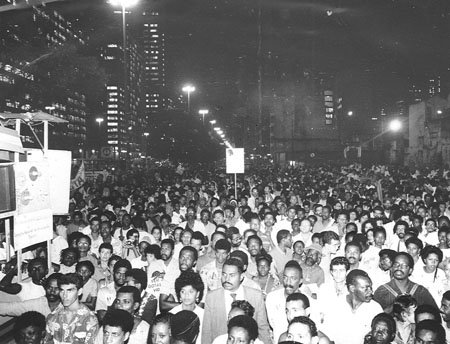 1988 March in memory of 100 years of the abolition of slavery. Photo: Januário Garcia