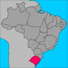 State of Rio Grande do Sul in the extreme south of the country