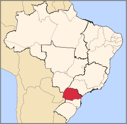 Southern state of Paraná; the capital city is Curitiba