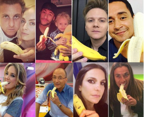 "The ""We are all monkeys"" campaign promoted by various celebrities"