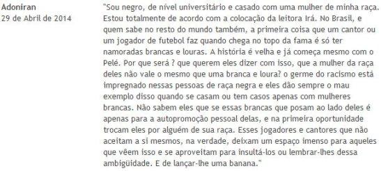 Adoniran's comment in the original Portuguese