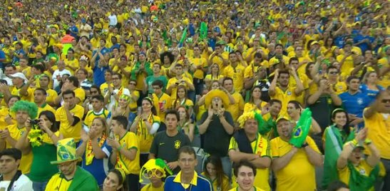 Fans at opening of World Cup