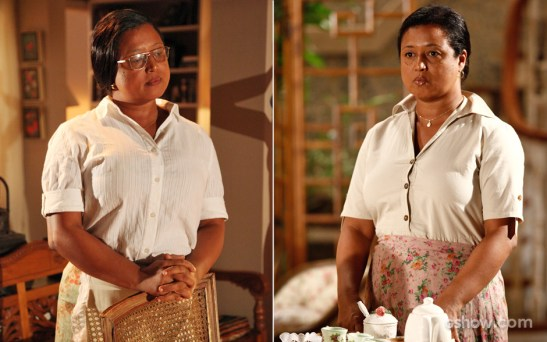 The maid Rosa is played by Tânia Toko