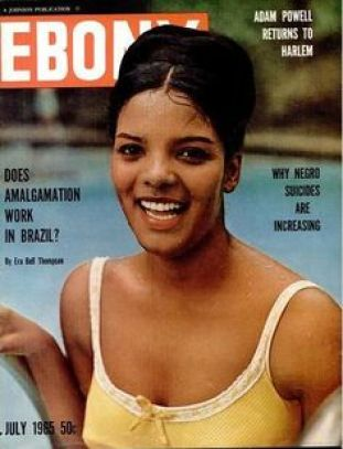 Vera featured on the cover of EBONY magazine in a 1965 issue