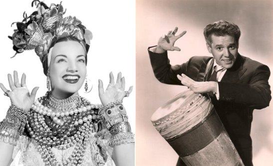 Brazil's Carmen Miranda and Cuban singer-actor Desi Arnaz