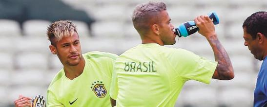 Neymar and Alves
