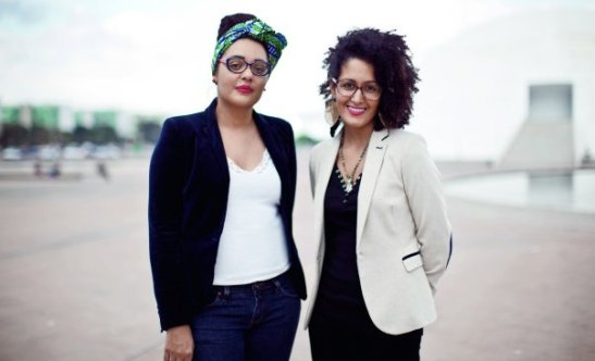 Jaqueline Fernandes and Chaia Dechen, producers of the Festival Latinidade