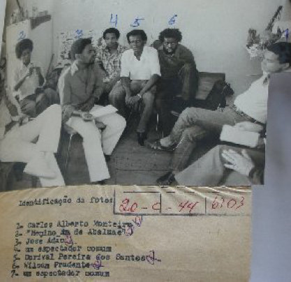 Movimento Negro activists identified by police in 1979