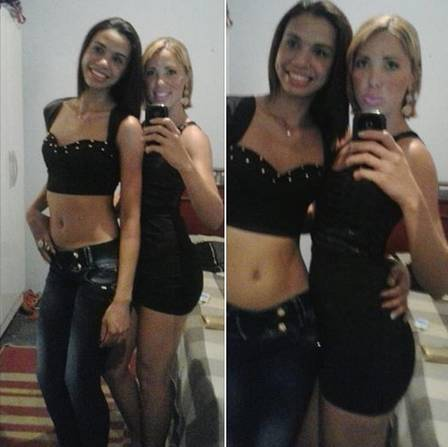 The sisters Ariane (dark hair) and Jéssica posted a photo on a social network on Friday