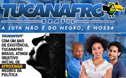 "The Tucanafro wing of the PSDB party recently passed one year of its existence. It's slogan is ""the battle is not of blacks, but ours."" The organization's objectives are engaging more blacks in the political arena and racial equality."