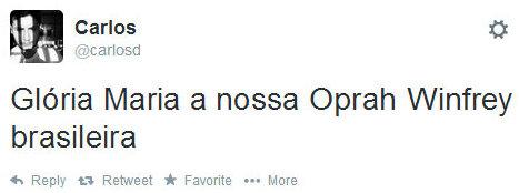 """Glória Maria our Oprah Winfrey"" - Many Brazilians already see former host as the ""Brazilian Oprah Winfrey"""