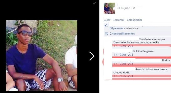Military Police soldier made a crude comment about the teen's death in a social network