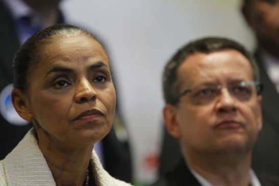 Presidential candidate Marina Silva's numbers continue to slide