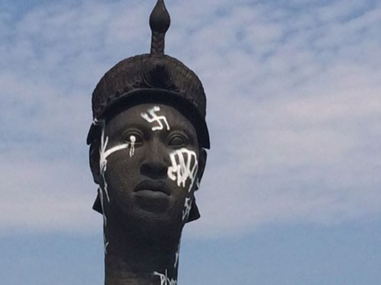 Zumbi dos Palmares monument in Rio de Janeiro was sprayed with a swastika on Sunday