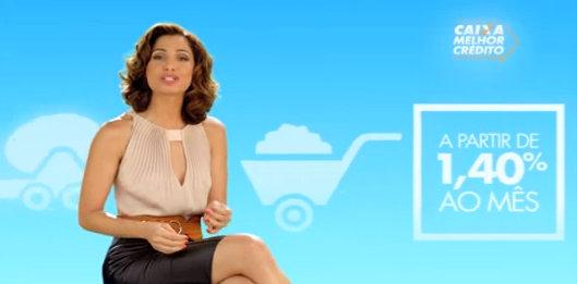 Actress Camila Pitanga in a commercial for Caixa Econômica Federal