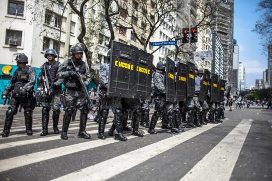 Military Police in downtown São Paulo