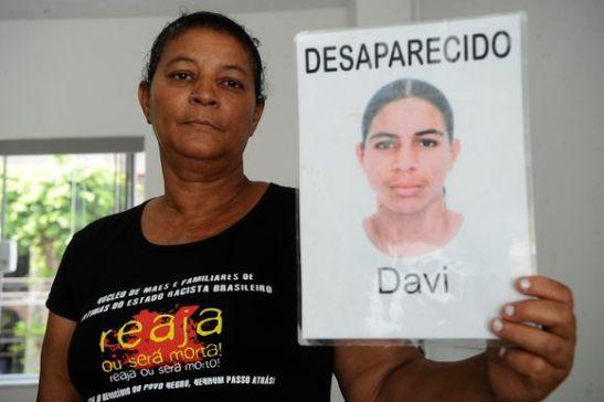 Iracema Barreiros Alves, mother of Davi Barreiros Alves