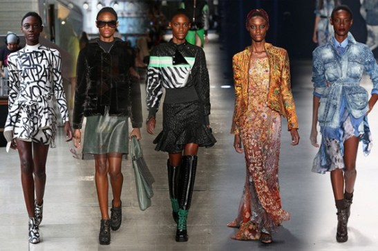 Mariane on the runway of the SPFW: Pat Pat's, Alexandre Herchcovitch, Ellus, Lino Villaventura and TNG