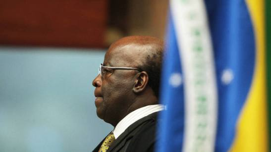 Chief justice, Joaquim Barbosa in plenary