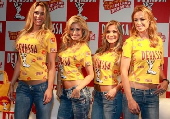 Models Julia Dykstra, Sunessis Brito, Juliana Sales and Camila Macedo