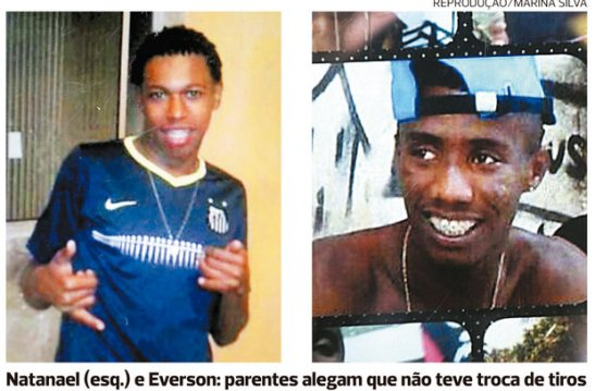 Two ofthe victims - Natanael (left) and Everson: relatives allege that there was no exchange of gunfire