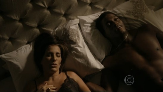 Actress Glória Pires and actor Val Perré in a scene from 'Babilônia'