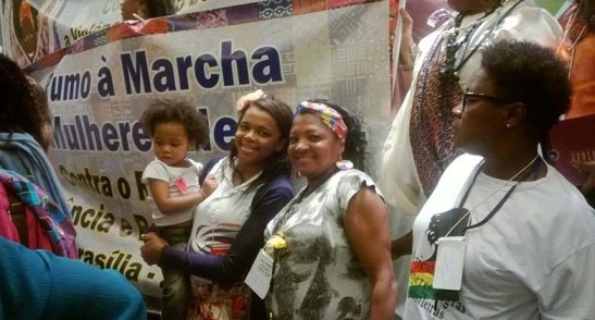 At the event, women also promoted the Marcha das Mulheres Negras 2015