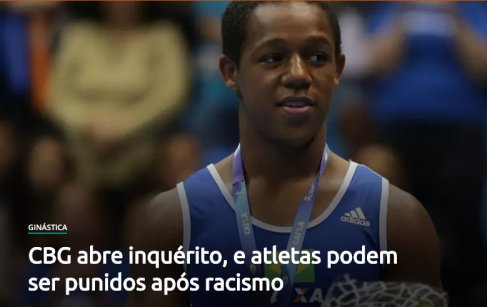 Athletes could be punished after racist joke made with teammate Ângelo Assumpção