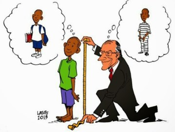 Illustration by Carlos Latuff portrays governor of São Paulo state. Activists have long argued this law is simply a way of criminalizing black youth.