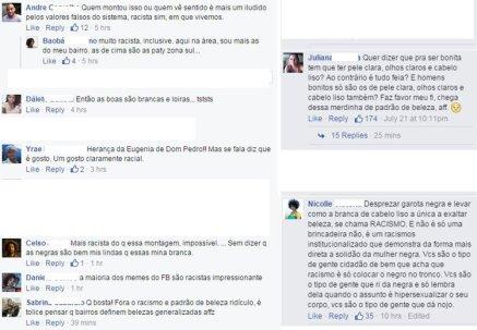 Facebook comments in original Portuguese