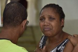 The victim's mother, Ivânia Xavier da Silva
