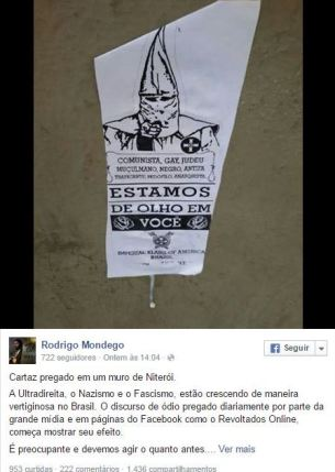 On the poster, Rodrigo Mondego commented: