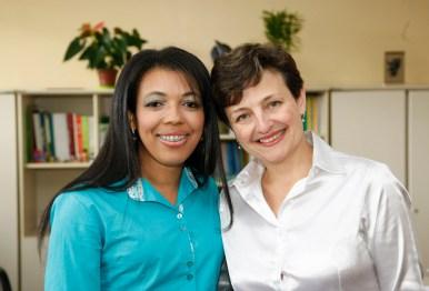 Secretaria de Estado da Educação do Paraná, Doutora Edimara Soares quilombola e a primeira Doutora em Educação Quilombo e a Superintendente Fabiane Campos. 04-09-15. Foto: Hedeson Alves