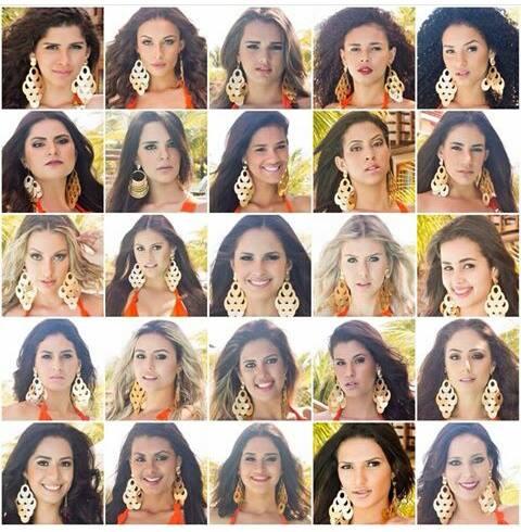 candidatas do Miss Rio Grande do Norte 2015