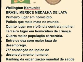 brasil merece medalha de lata