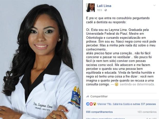 dentista-vitima-de-racismo-no-piaui-desabafa-na-internet-sim-nasci-negra