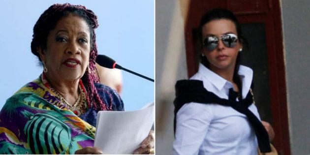 Ministra de Direitos Humanos, Luislinda Valois, e Adriana Ancelmo, esposa do ex-governador do Rio, Sérgio Cabral