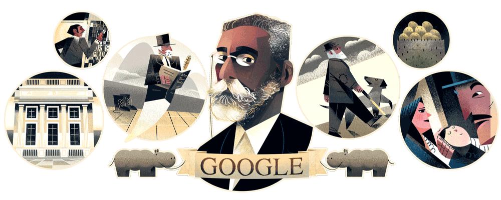 Machado de Assis - Google comemora 178º aniversário do escritor com Doodle